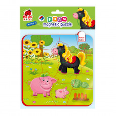 Foam Baby Magnetpuzzles «Schwein und Pferd»